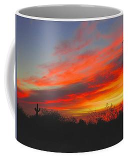 Saguaro Winter Sunrise Coffee Mug