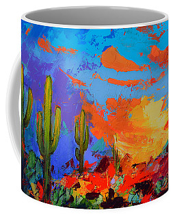 Saguaros Land Sunset Coffee Mug