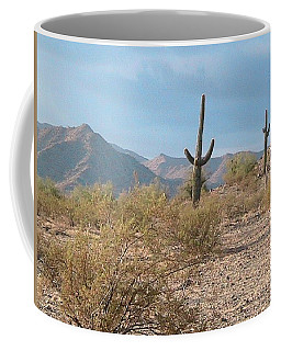 Saguaros On A Hillside Coffee Mug