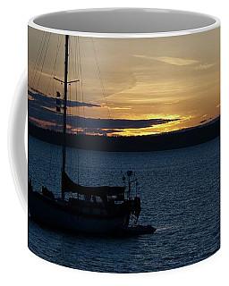 Sail Boat At Sunset Coffee Mug