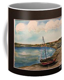 Sail Boat On Shore Coffee Mug