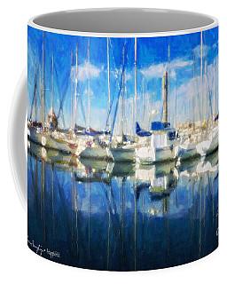Sail Boats In Port Coffee Mug