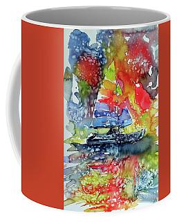 Sailboat At Sunset II Coffee Mug by Kovacs Anna Brigitta