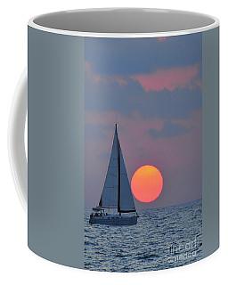 Sailboat At Sunset  Coffee Mug