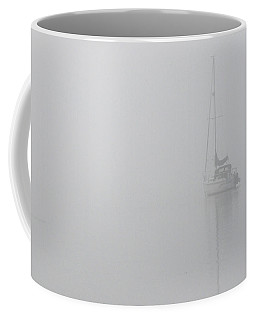 Sailboat In Fog Coffee Mug