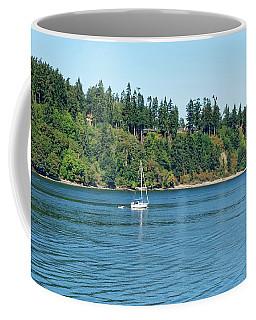 Sailboat Near San Juan Islands Coffee Mug