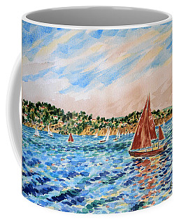Sailboat On The Bay Coffee Mug
