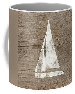 Sailboat On Wood- Art By Linda Woods Coffee Mug