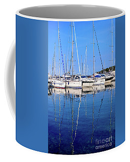 Sailboat Reflections - Rovinj, Croatia  Coffee Mug