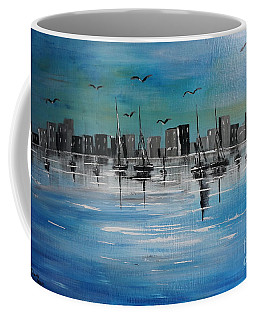 Sailboats And Cityscape Coffee Mug