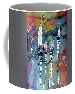 Sailboats II Coffee Mug by Kovacs Anna Brigitta