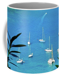 Sailboats In Antigua Harbor Coffee Mug