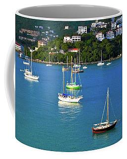 Sailboats In The Caribbean Coffee Mug
