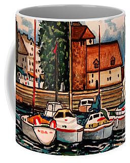 Sailboats In The Harbor Coffee Mug