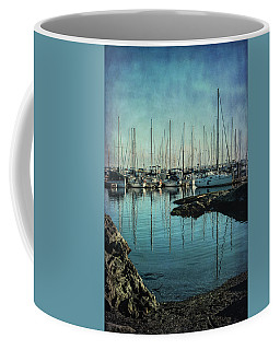 Marina - Digitally Textured Coffee Mug by Marilyn Wilson