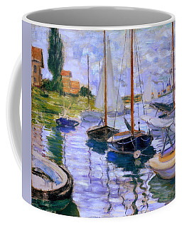 Sailboats On The Seine At Petit Gennevilliers Claude Monet 1874 Coffee Mug
