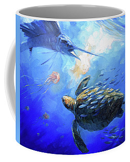 Sailfish And Turtle Coffee Mug