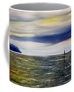 Coffee Mug featuring the painting Sailing At Dusk by Marilyn  McNish