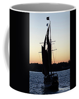 Sailing At Sunset Coffee Mug