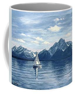 Sailing At The Grand Tetons Coffee Mug
