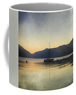 Sailing Boat In The Sunset Coffee Mug