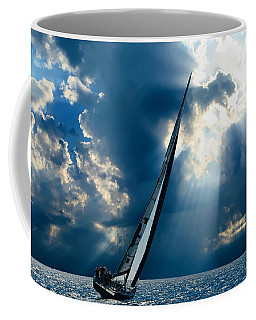 Sailing Boats At Sea , Photography , Coffee Mug