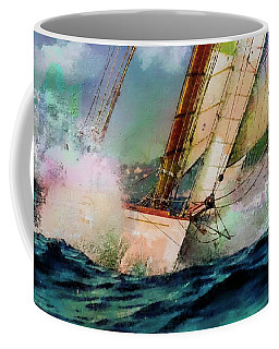 Sailing Boats At Sea, Texture My World  Coffee Mug