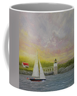 Sailing By Ram Island Coffee Mug