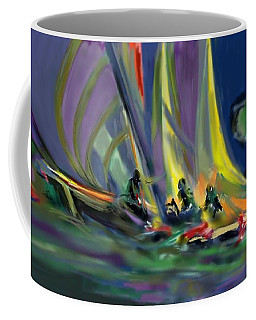 Coffee Mug featuring the digital art Sailing by Darren Cannell