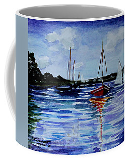 Coffee Mug featuring the painting Sailing Day by Elizabeth Robinette Tyndall