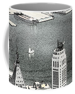 Coffee Mug featuring the photograph Sailing Down The East River In New York by Kellice Swaggerty