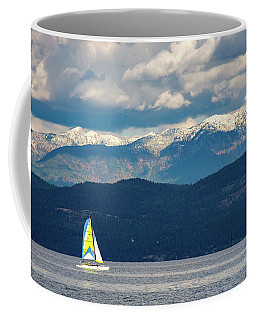 Sailing Flathead Lake Coffee Mug