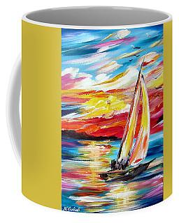 Sailing In The Indian Ocean Summer  Coffee Mug