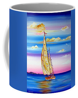 Sailing Into A Dreamy Sunset Coffee Mug