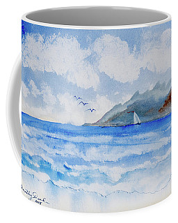 Sailing Into Moorea Coffee Mug
