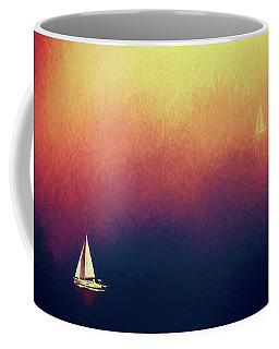Coffee Mug featuring the photograph Sailing by James Bethanis