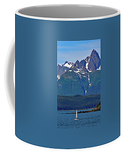 Sailing Lynn Canal Coffee Mug by Cathy Mahnke