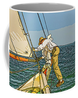 Sailing-not For Wimps-abstract Painting Coffee Mug
