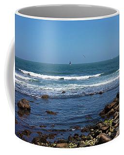 Sailing Off The Coast At Narragansett Pier Coffee Mug