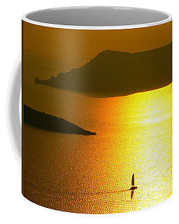 Sailing On Gold 1 Coffee Mug by Ana Maria Edulescu