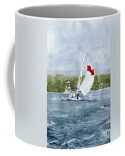 Coffee Mug featuring the painting Sailing On Niagara River by Melly Terpening