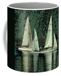 Coffee Mug featuring the photograph Sailing Reflections by David Patterson