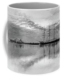 Sailing Ship At Cunningham Pier Coffee Mug