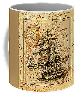 Sailing Ship Map Coffee Mug