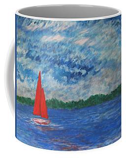 Sailing The Wind Coffee Mug by John Scates