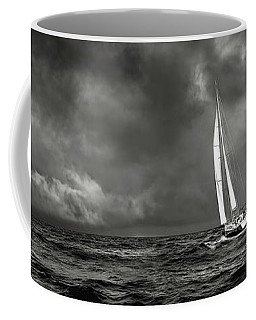 Sailing The Wine Dark Sea In Black And White Coffee Mug