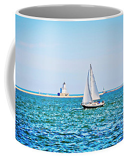 Sailing Under A Summer Sky - Milwaukee Coffee Mug