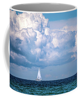 Sailing Under The Clouds Coffee Mug