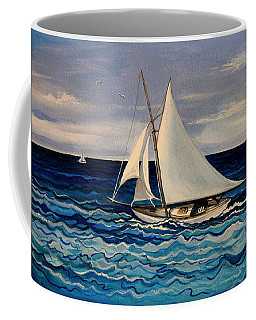 Sailing With The Waves Coffee Mug