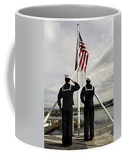Sailors Raise The National Ensign Coffee Mug